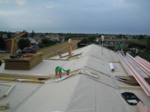 Copertura tetto nuova costruzione civile zanella costruzioni edili montebelluna treviso