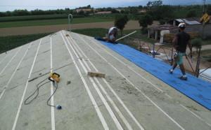 Isolamento tetto nuova costruzione civile zanella costruzioni edili montebelluna treviso
