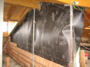 Muro sottotetto legno nuova costruzione civile zanella costruzioni edili montebelluna treviso
