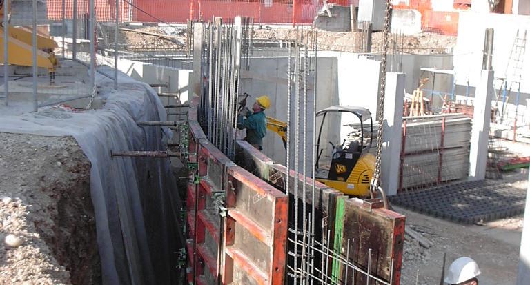Muro tondo costruzione civile zanella costruzioni edili montebelluna treviso