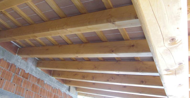 Sottotetto in legno con tavelle nuove costruzioni civilei industriali zanella costruzioni edili provincia di treviso