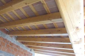 Sottotetto in legno con tavelle nuova costruzione civile zanella costruzioni edili montebelluna treviso