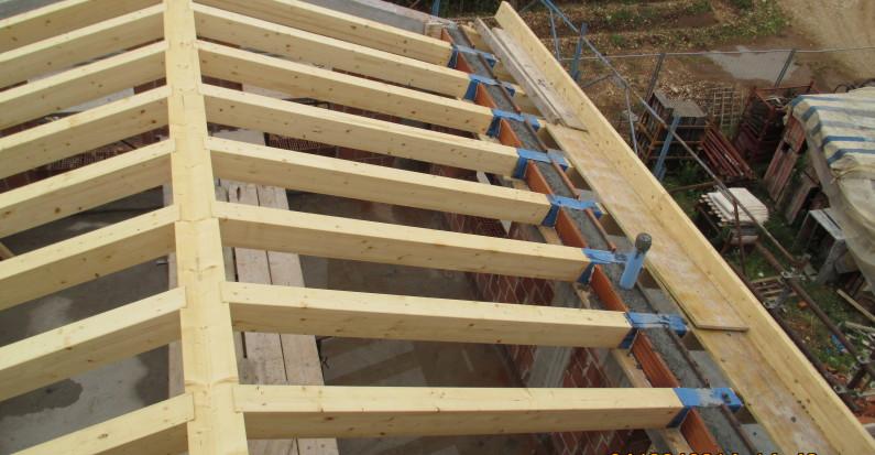 Tetto in legno nuova costruzione civile zanella impresa costruzioni edili montebelluna