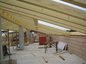 Sottotetto in legno nuova costruzione civile zanella costruzioni edili montebelluna treviso veneto