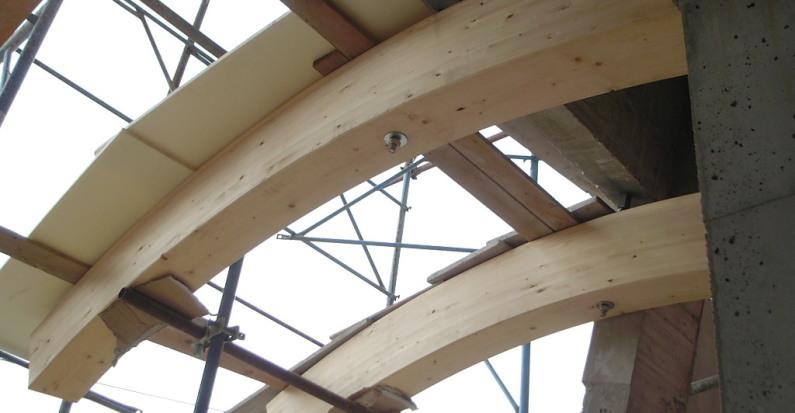 Travi tettoia nuove costruzioni civili industriali zanella costruzioni edili montebelluna treviso